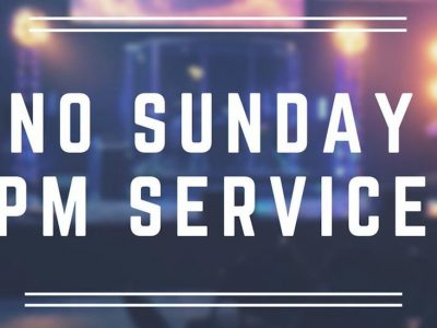No evening services
